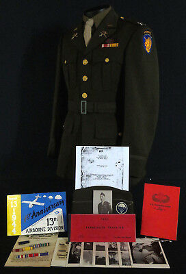 """NAMED 13th AIRBORNE DIVISION 513th PIR OFFICERS UNIFORM GROUP: CO OF COMPANY """"I"""""""