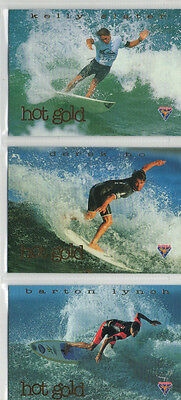 Hot Surf - Lot Of 4 Different Hot Gold Chase Cards NM Furtera 1994 1999