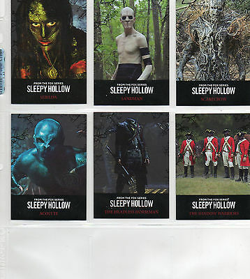 Sleepy Hollow Season 1 - Lot Of 13 Different Chase Cards NM Cryptozoic 2015