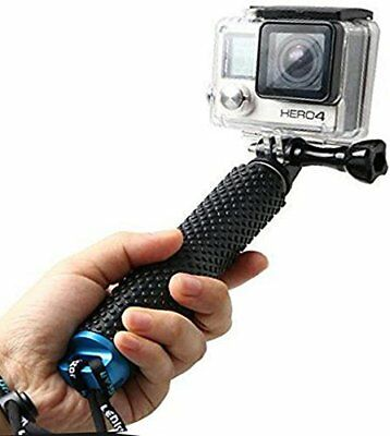 Extendable Gopro Pole, Rubber Hand Grip Waterproof Selfie Stick Extension Handle