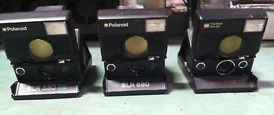 LOT OF 3 Polaroid SLR 680 SE / 680 Auto Focus Land Camera Rough & Untested As-Is