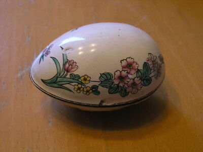 "Antique Chinese Canton Enamel Hand Painted Covered Egg Container 3 1/4 "" as is"