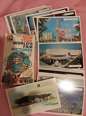 Vintage 1964-1965 New York World's Fair Pictures 28 Flash Card Set Complete