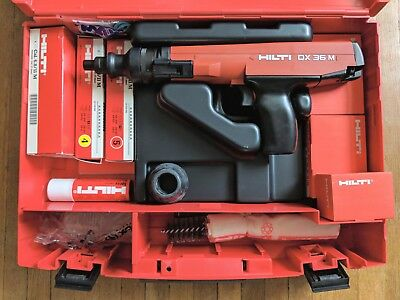 HILTI DX36M Semi-Automatic Powder-Actuated Fastening Tool W/ Accessories