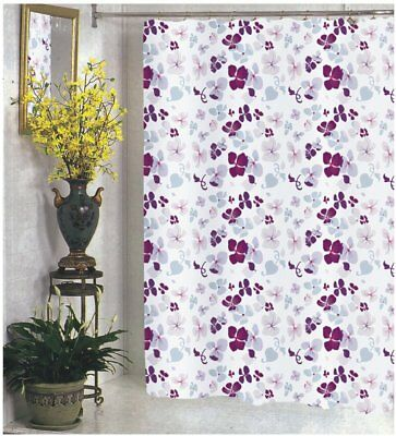 FABRIC SHOWER CURTAIN Extra Wide Long Standard With Hooks Ring