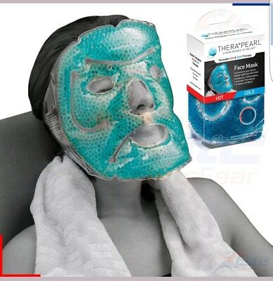 Therapearl Hot Cold Ice Face Mask Reusable Migraine Sinus Cosmetic Relief