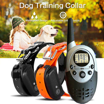 1000Yard Waterproof Shock Vibrate Remote Training Collar for Small Med Large Dog