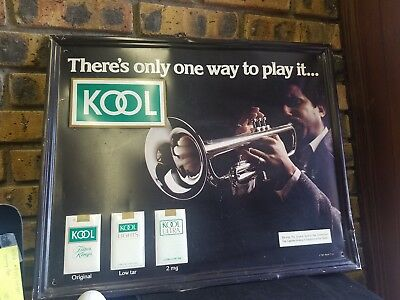 There's only one way to play it... Vintage Kool cigarettes tin sign 1981