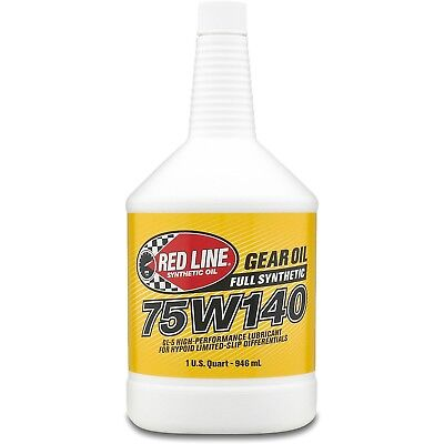 Red Line 57914 Lightweight Gear Oil 75W140 1 Quart, Full Case (Pack of 12)