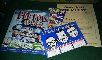 Pep Boys - History Book - Manny , Moe & Jack - Holiday Card ,Chain Store Review