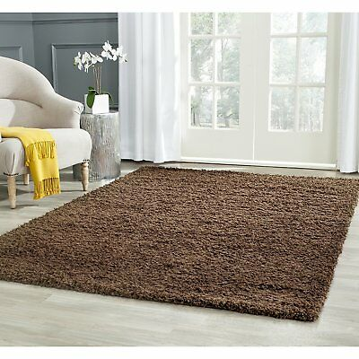 Safavieh Athens Shag Collection SGA119A Brown Area Rug, 5 feet 1 inches by 7...