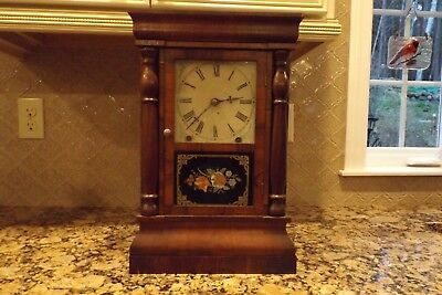 Antique New Haven 8 Day Mantle Clock Working
