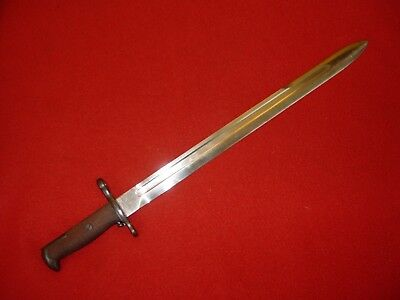 """Vintage M 1905 R.I.A.  16"""" Bayonet 1906  Dated  No Serial number Field Trial"""