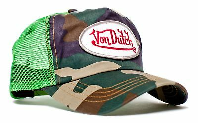 Authentic Brand New Von Dutch Lime Camo Cap Hat Mesh Snapback Camouflage