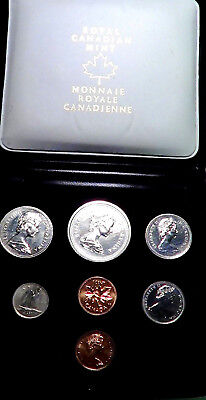 Canada 1975  SEVEN coin mint set in original Case Royal Canadian Mint.