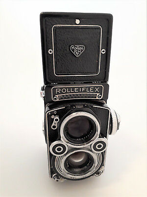Rolleiflex 3.5F 6x6 120 medium format camera, w/ 75mm f3.5 Planar + cap