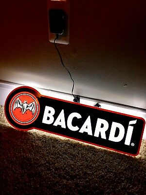 Bacardi Light Up LED Sign-BRAND NEW mancave Approved