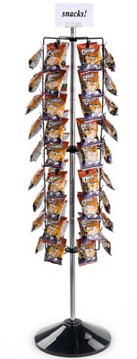 Black 108 Clip Strip Rotating Floor Display Fixture - Great for Chips Snacks Toy