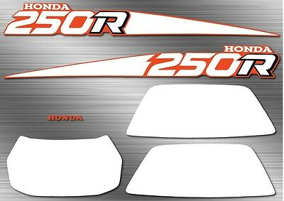 1988 88' honda TRX ATV 250R 7pc Decals Stickers Fourtrax Graphics Kit