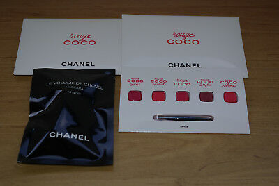 Chanel Superbe Petit Lot De Maquillage 2 Pallette Rouge Coco + Mascara Le Volume