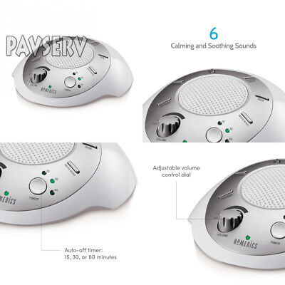 White Noise Sound Machine   Portable Sleep Therapy for Home, Office, Baby &...