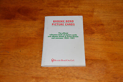 brooks bond  picture cards reference book (cigarette card book)