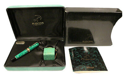 Jade Aurora Primavera Limited Edition Fountain Pen 18K Medium Nib New In Box Nos