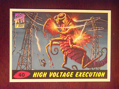 1994 MARS ATTACKS #40 High Voltage Execution FIRST DAY ISSUE in NM to Mint Cond