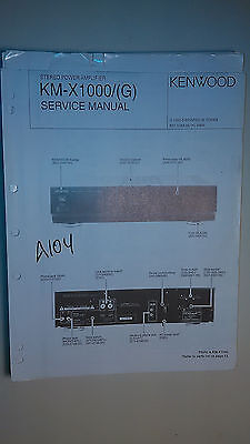 kenwood km x1000 service manual original repair book stereo power rh picclick com Compaq Presario Windows 98 Compaq Presario Wallpaper