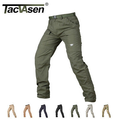 TACVASEN Mens Quick Dry Combat Pants Camouflage Shorts Trouser Hunting Pants