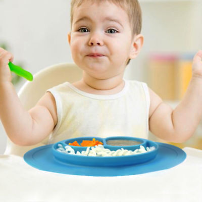 Happy Mat suction silicone plate bowl Toddler infant kids baby Dishes STABLE