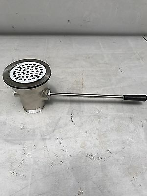 Advantage STRAIGHT LEVER WASTE DRAIN COMMERCIAL STAINLESS SINK 55-729 #L