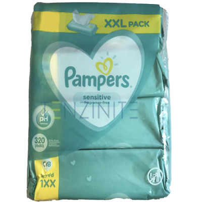 Pampers Sensitive Protect Baby Wipes 4 8 12 15 Packs Wet Wipes 80 Wipes per pack