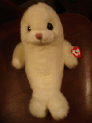 "Ty Misty White Seal 1997 NEW 11"" x 7 1/4"" WITH TAGS>WHISKERS<"