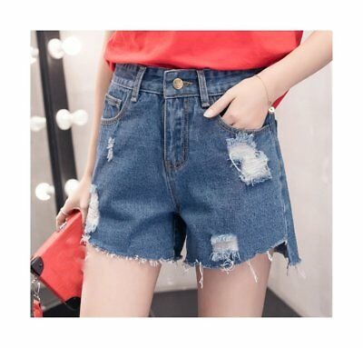 62e40ff3cfd62 WOMEN S PLUS SIZE High Waisted Cutoff Denim Shorts Juniors Destroyed Ripped  -  37.16