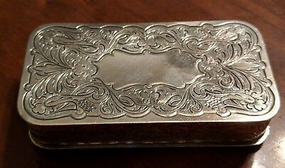 Van Bergh Silverplate Co Antique Engraved Pin Box Victorian 19th Century