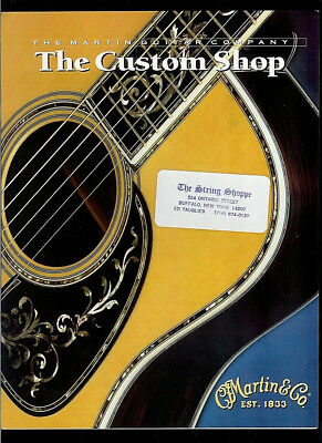 1997 CF Martin Guitar Custom Shop Brochure/Catalog Inlays Patterns Fingerboards