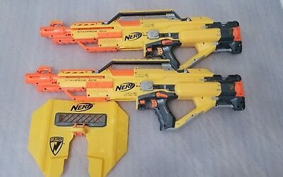 Lot of 2 NERF STAMPEDE ECS N-STRIKE AUTOMATIC BLASTER FREE SHIPPING, UNTESTED