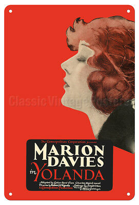 Yolanda - Starring Marion Davies - 1924 Vintage Film Movie Poster Metal Tin Sign