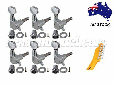 6R Chrome Tuning Pegs Machine Heads for Acoustic Electric Guitar