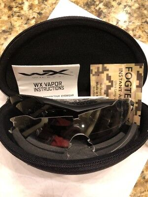 Wiley X Vapor Apel Smoke Grey/Clear Full Glasses CH3501 New Free Shipping