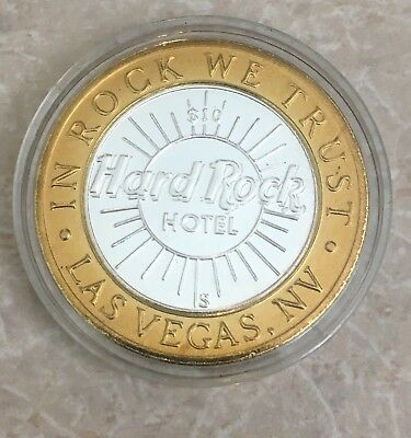 Hard Rock Hotel 999 Fine Silver las vegas $10 Limited Edition Gaming Token Coin