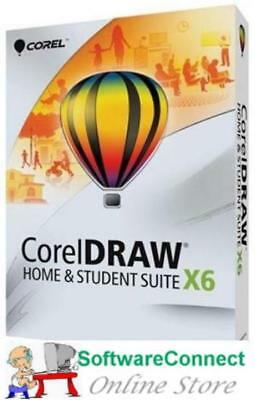 CorelDRAW X6 Home and Student Not X8 Corel DRAW WIN Genuine GUARANTEE