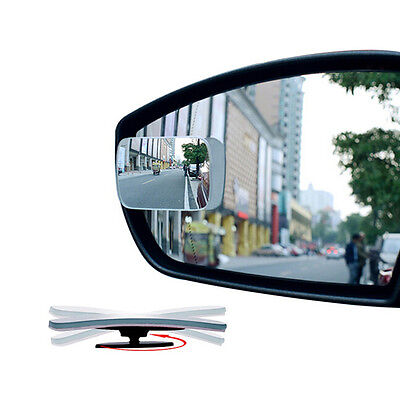 1x Universal Auto Car 360° Wide Angle Convex Rear Side View Blind Spot Mirror NJ