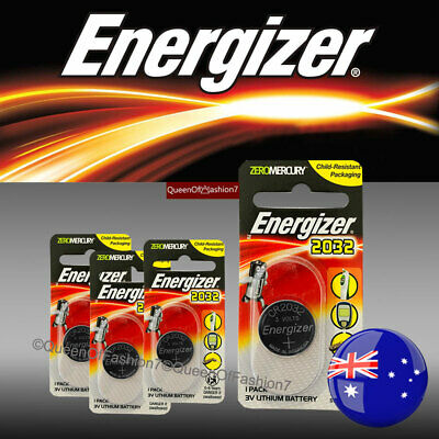 4 X Energizer CR2032 Single Packed Battery 3V Lithium Batteries Button