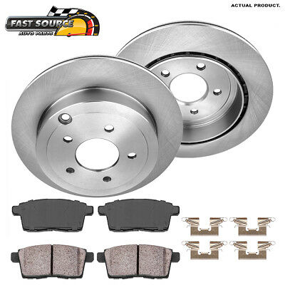 Rear 302 mm Brake Rotors and Ceramic Pads 2007 - 2010 FORD EDGE LINCOLN MKX