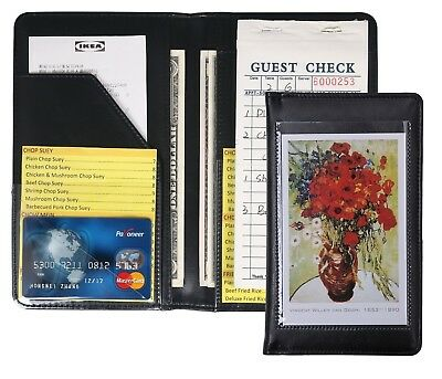 Waiter Waitress Book Server Wallet Pads Organizer Check Book Holder Money Pocket