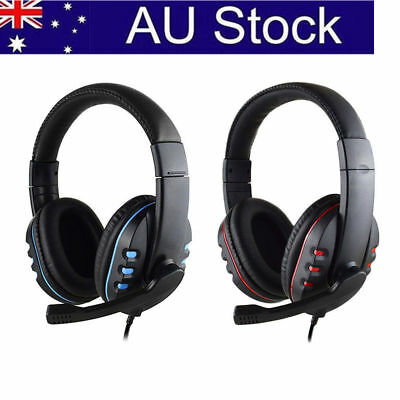 AU3.5mm Surround Stereo Gaming Headset Headband Headphone with Mic For PS4 PC
