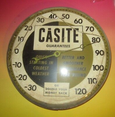 "Vintage Casite Advertising 12"" Wall Thermometer"