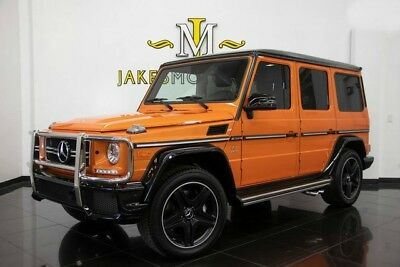 2017 Mercedes-Benz G-Class G63 AMG SPECIAL EDITION ($162,525 MSRP!) 2017 G63 AMG, SPECIAL EDITION, AMG PERFORMANCE STUDIO PKG! FACTORY PEARL ORANGE!